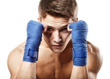 Junger hübscher männlicher Boxer Stockfoto