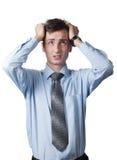 Junger hoffnungsloser Mann Lizenzfreies Stockfoto