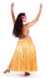 Junger hula Tänzer gesehen von hinten Stockfoto