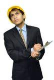 Junger indischer überwachender Ingenieur Lizenzfreies Stockfoto