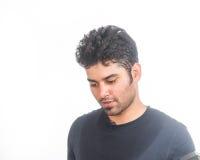 Junger indischer ausarbeitender Mann Lizenzfreies Stockbild