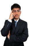 Junger indischer Geschäftsmann Lizenzfreies Stockfoto