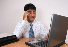 Junger indischer Geschäftsmann. Lizenzfreies Stockbild