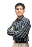 Junger indischer Geschäftsmann Stockfotos