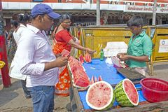 Junger indischer Verkäufer Lizenzfreies Stockbild
