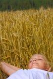 Junger Jugendlichmädchenschlaf Stockfotografie
