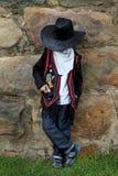 Junger Junge, der Cowboy spielt Lizenzfreies Stockbild