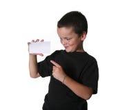 Junger Junge mit ausdrucksvollen Weise stockfoto