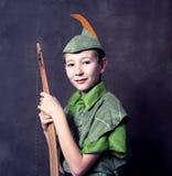 Junger Robin Hood stockbild
