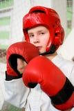 Junger Kämpferjunge Stockfotos
