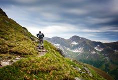 Junger kaukasischer Wanderer Stockbild