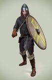 Junger Krieger der frühen Mittelalter lizenzfreie stockfotografie