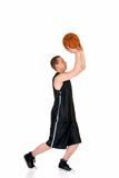 Junger männlicher Basketball-Spieler Stockfoto