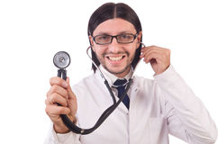 Junger männlicher Doktor lokalisiert Lizenzfreie Stockbilder