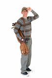 Junger männlicher Golfspieler lizenzfreies stockbild