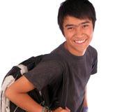 Junger männlicher Kursteilnehmer Stockbilder
