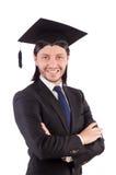 Junger männlicher Student graduiert von der Highschool Stockfotos