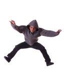 Junger männlicher Tänzer bildet einen Sprung Lizenzfreies Stockbild