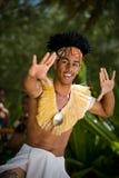 Junger männlicher Tahitian Tänzer Stockfotografie