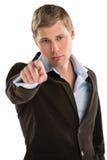 Junger männlicher Unternehmensleiter, der auf Sie zeigt Lizenzfreie Stockbilder