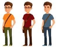 Junger Mann in der beiläufigen Kleidung Lizenzfreie Stockfotos