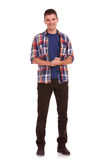 Junger Mann, der dankbar ist Lizenzfreies Stockfoto