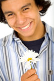 Junger Mann in der Liebe Stockbild