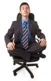 Junger Mann in der Lotoshaltung Lizenzfreie Stockfotos