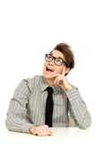 Junger Mann, der oben schaut Lizenzfreie Stockfotografie