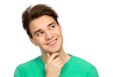 Junger Mann, der oben schaut Lizenzfreies Stockbild