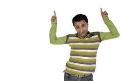 Junger Mann, der sich Richtung zeigt Lizenzfreie Stockbilder