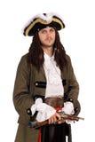 Junger Mann in einem Piratenkostüm Stockfotografie