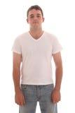 Junger Mann in einem sauberen T-Shirt Stockbilder