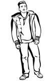 Junger Mann in einer kurzen Jacke Lizenzfreies Stockfoto