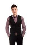 Junger Mann in einer Weste Lizenzfreie Stockfotos