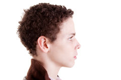 Junger Mann im Profil Lizenzfreies Stockfoto