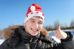 Junger Mann im Sankt-Hut Lizenzfreies Stockfoto