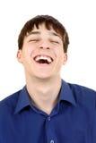 Junger Mann-Lachen Lizenzfreie Stockfotografie