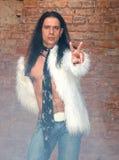 Junger Mann mit dem langen Haar Stockfoto