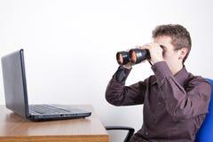 Suchen auf dem Netz Stockfotos