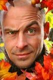 Junger Mann mit devilish Gesicht Lizenzfreie Stockfotografie