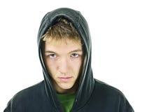 Junger Mann mit Fluglage Stockfoto