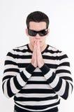 Junger Mann mit Gläsern Stockfotografie