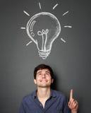 Junger Mann mit Ideen Lizenzfreie Stockbilder
