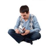 Junger Mann mit Kamera Lizenzfreies Stockfoto
