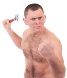Junger Mann mit muskulöser Karosserie lizenzfreies stockbild