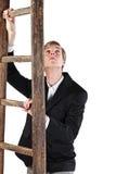 Junger Mann mit Strichleiter Lizenzfreie Stockbilder