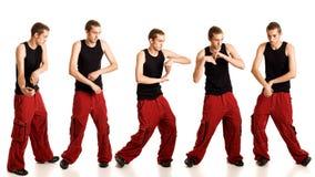 Junger Mann-Tanzen stockbilder