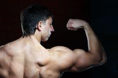 Junger muskulöser Mann Lizenzfreie Stockbilder