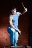 Junger muskulöser Mann Stockfotos